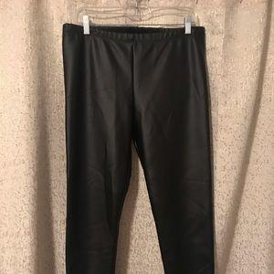 Ann Taylor Loft factory black faux leather legging